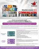 Communication Financière au 31/12/2015